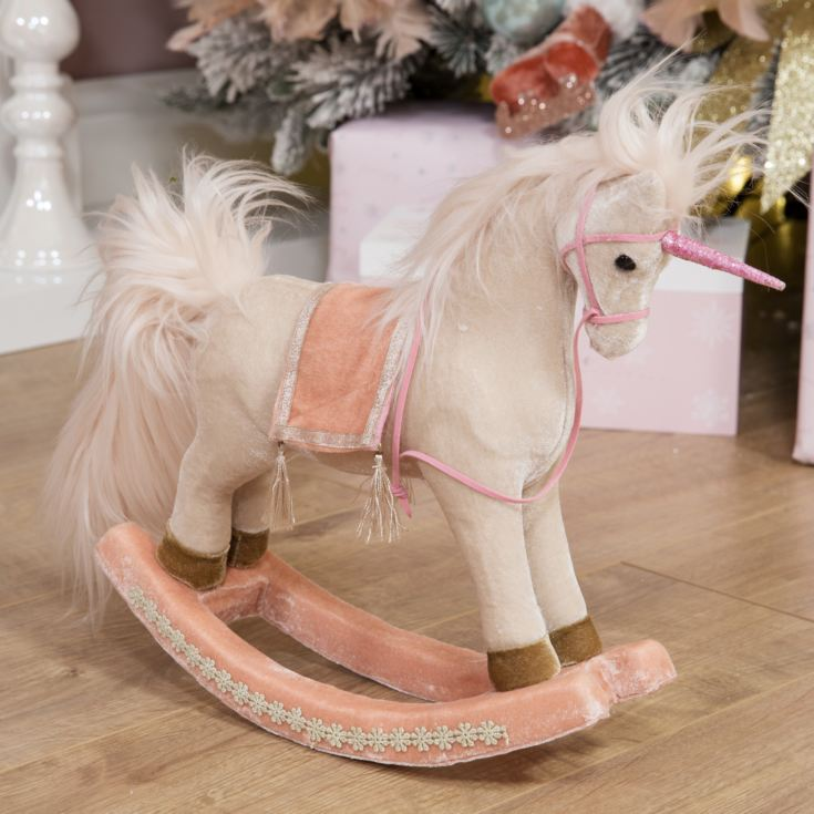 Blush Rocking Unicorn Decoration product image