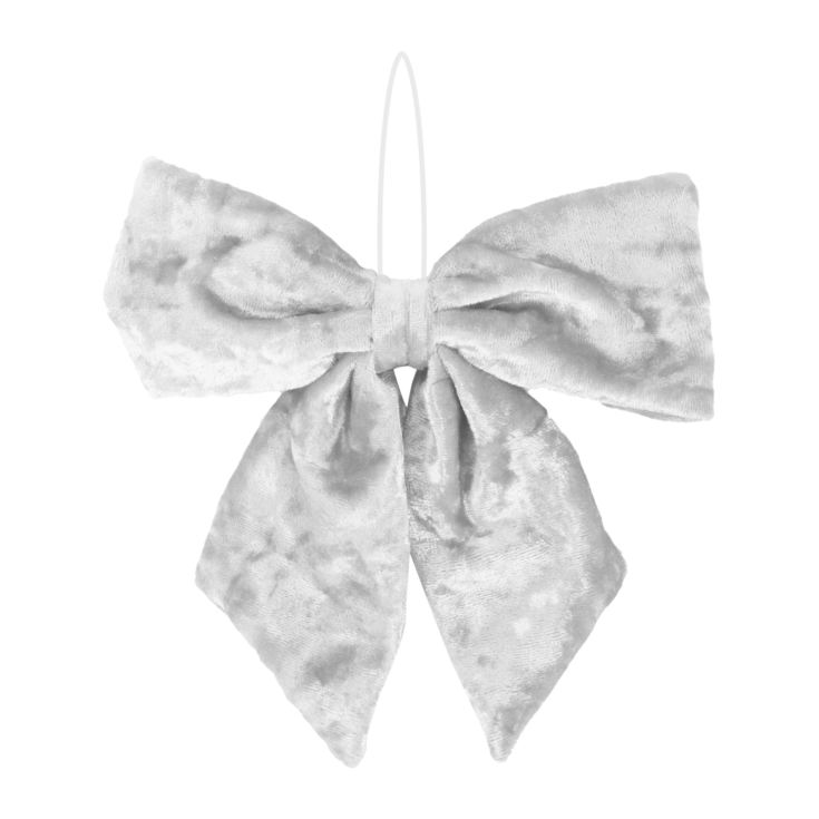 White Fabric Bow Tree Decoration product image