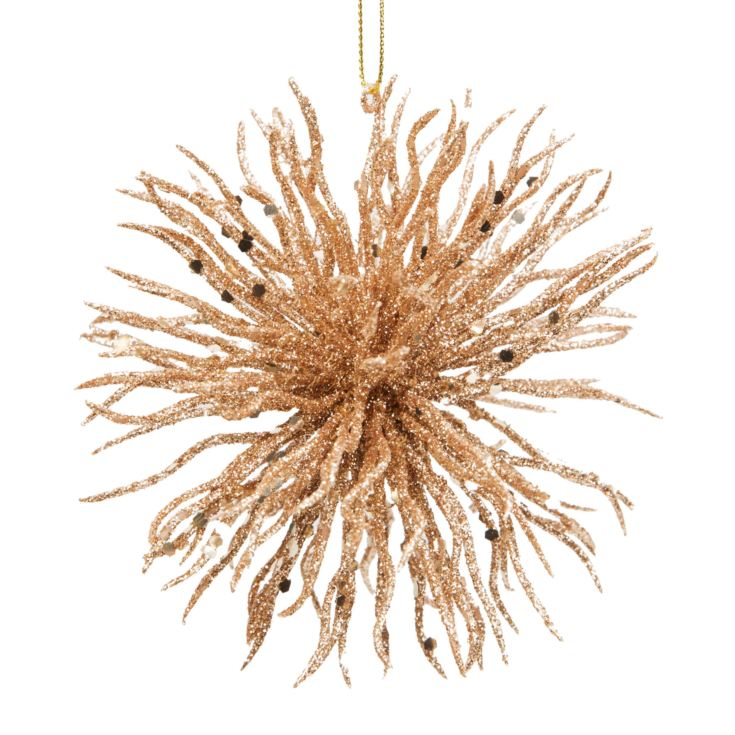 "Gold Glitter Ball Hanging Decoration 4"" product image"