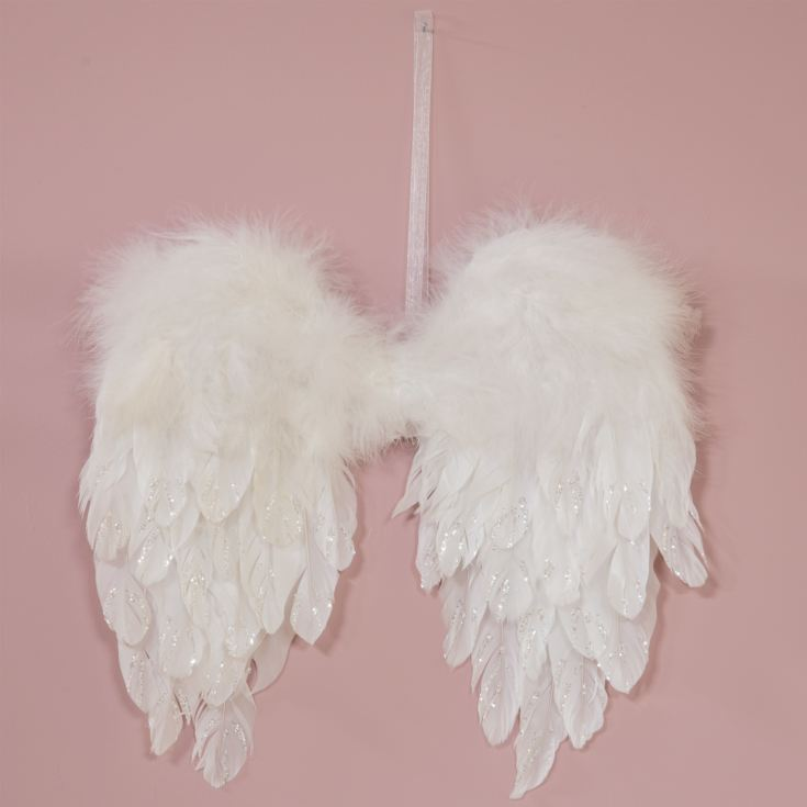 White Feather Angel Wings 40cm product image