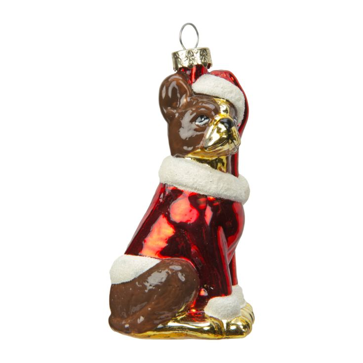 Dog with Santa Hat & Red Jacket Bauble product image
