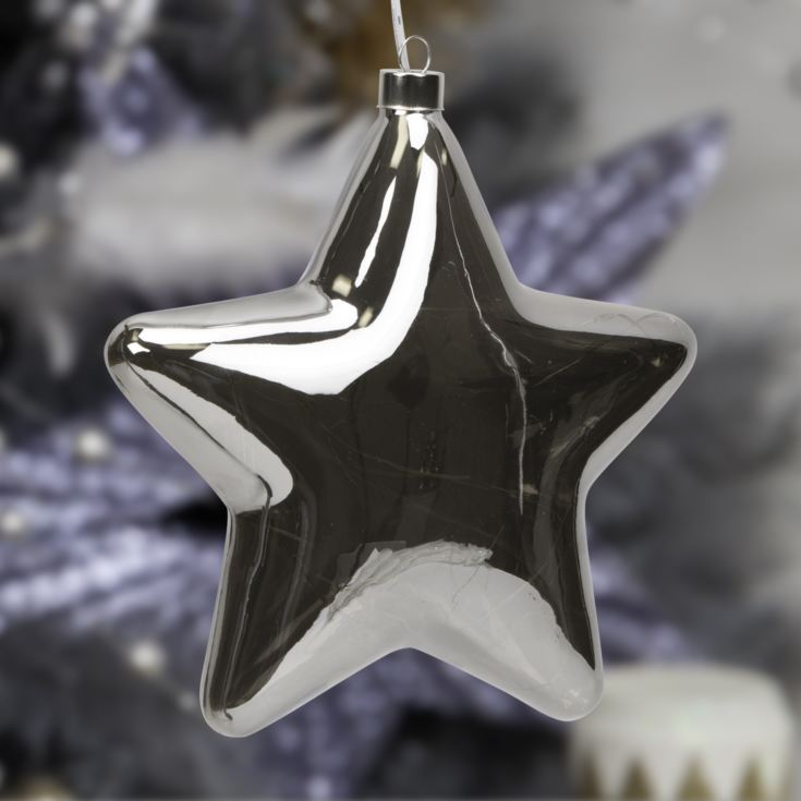 Smoke LED Light Up Hanging Star Decoration product image