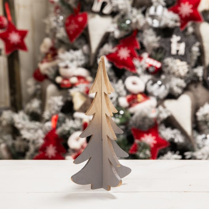Small White Standing 3D Tree Ornament 20cm product image