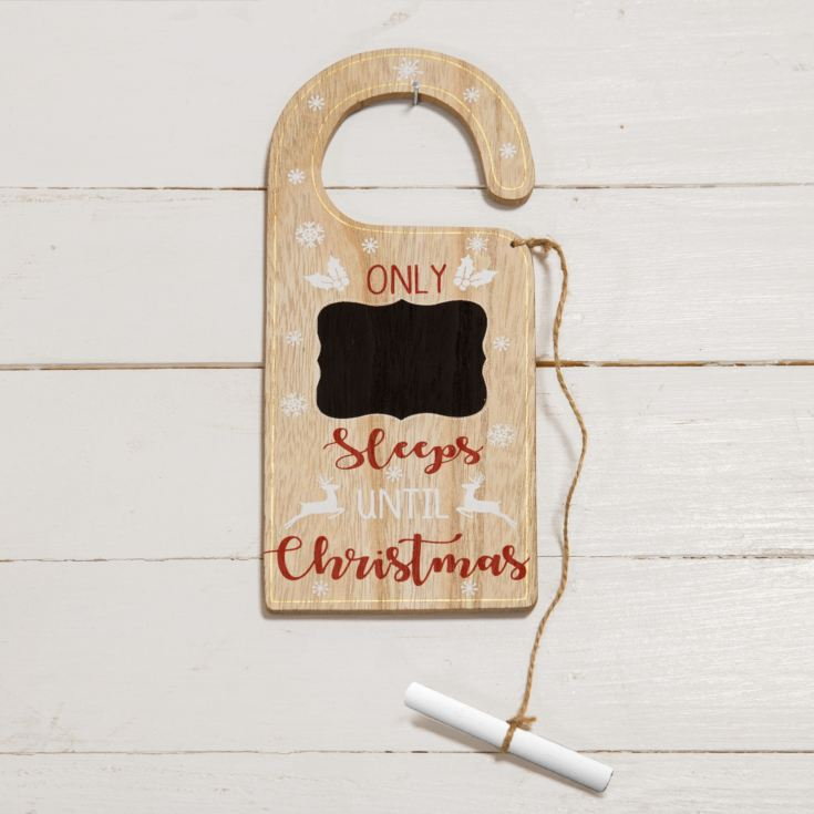 Christmas Countdown Door Hanger with Chalk product image