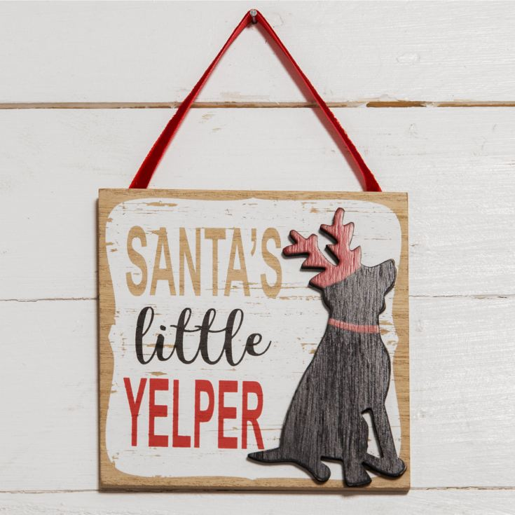 Santa's Little Yelper Dog Plaque product image