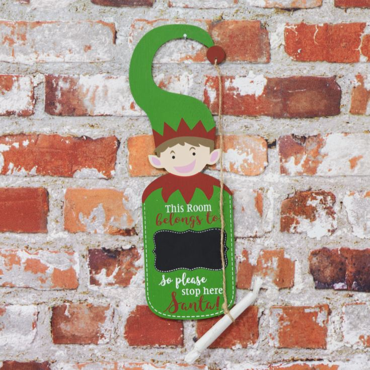 Elf Christmas Door Hanger with Chalk product image