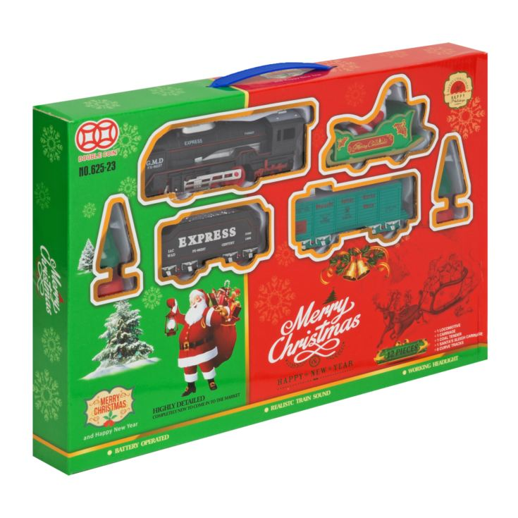 Merry Christmas Light Up Train Set - Medium Round product image