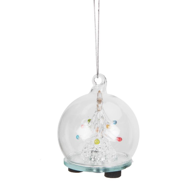 Light Up Glass Bauble with Tree Inside product image