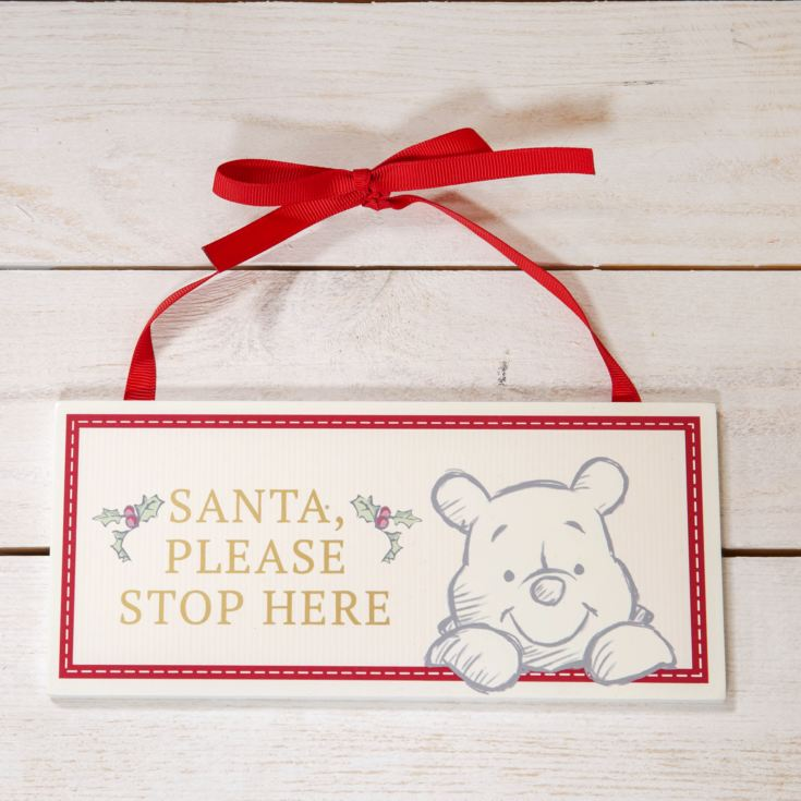 Disney Baby's First Christmas Santa Stop Here Sign - Pooh product image