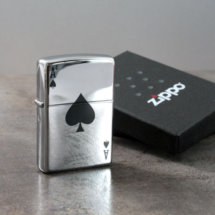 Personalised Lucky Ace Zippo Lighter