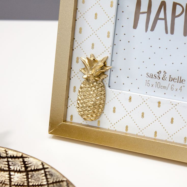 Touch of Gold Pineapple Photo Frame product image
