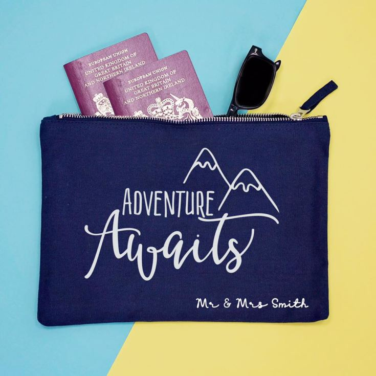 Personalised Adventures Awaits Travel Documents Holder product image