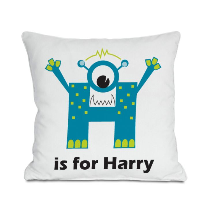 Personalised Children's Alphabet Monster Cushion product image