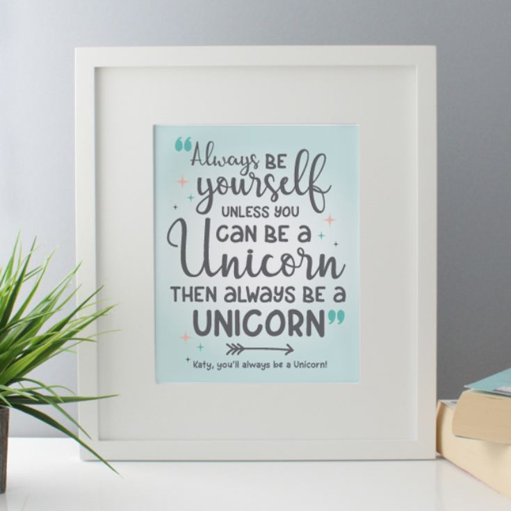 Personalised Always Be A Unicorn Framed Print product image