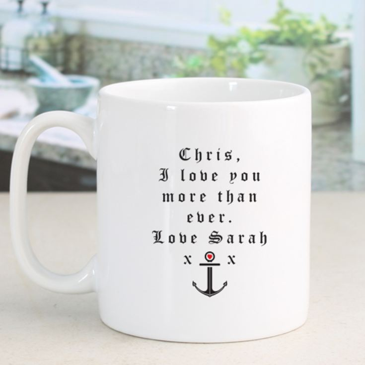 Love Anchor Personalised Mug product image