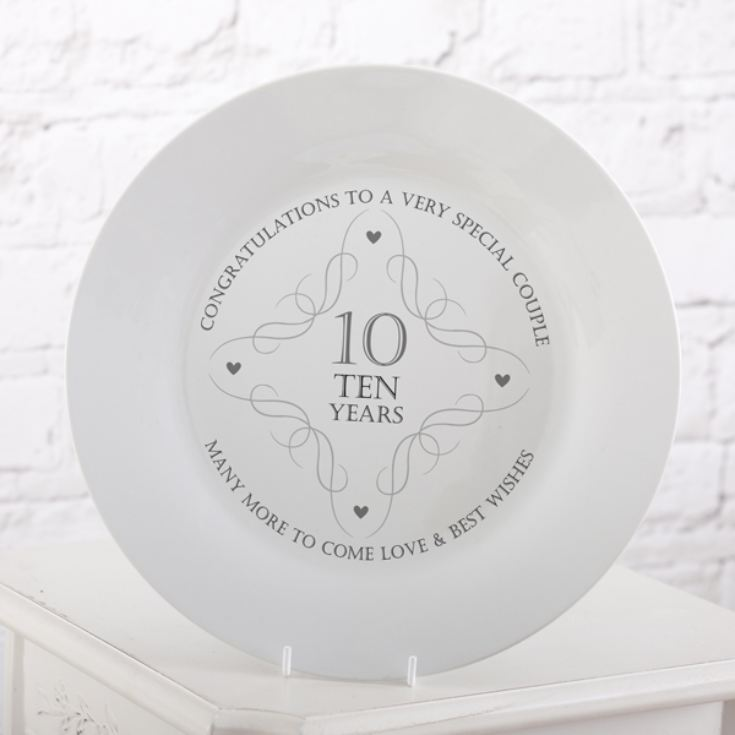 10th Anniversary Plate product image