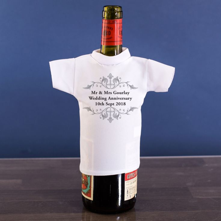 Personalised Anniversary Wine Bottle T-Shirt product image