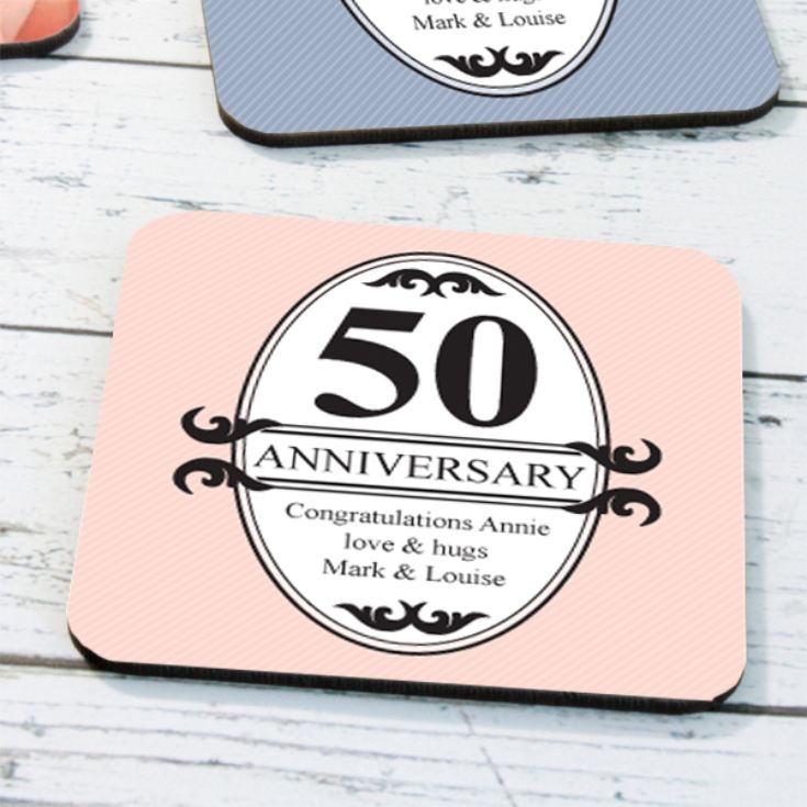 Personalised Pair Of Anniversary Coasters product image