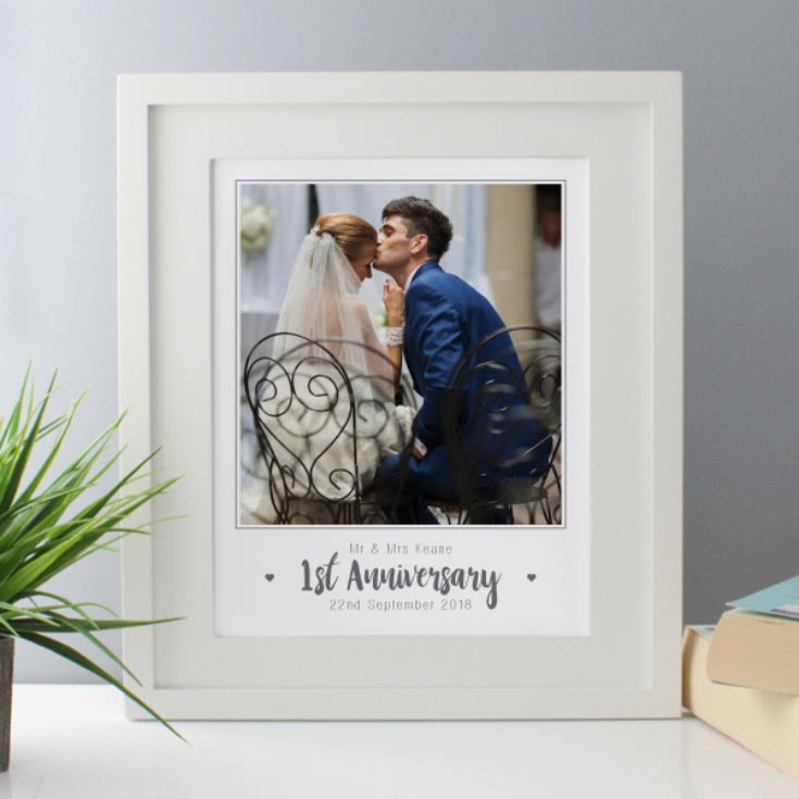 Personalised First Anniversary Photo Framed Print product image