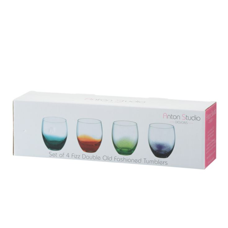 Personalised Set of 4 Coloured Tumblers product image