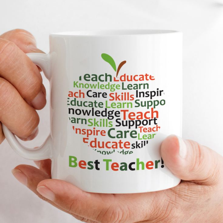 Personalised Teacher Mug - Apple Of Words product image
