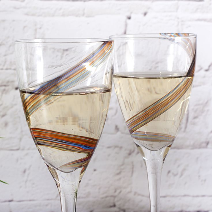 Anton Studio Designs Arc Swirl Wine Glasses product image