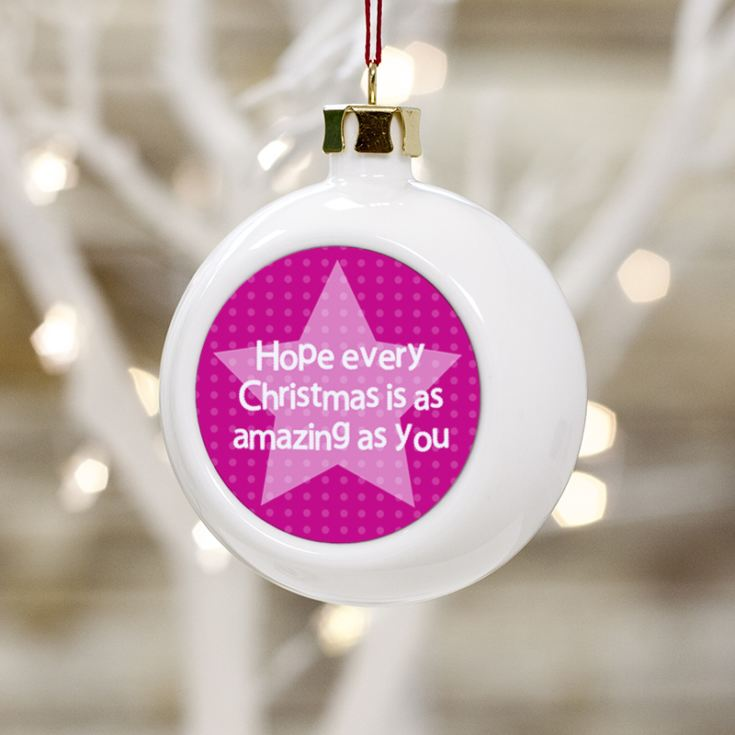 Personalised Auntie Christmas Bauble product image