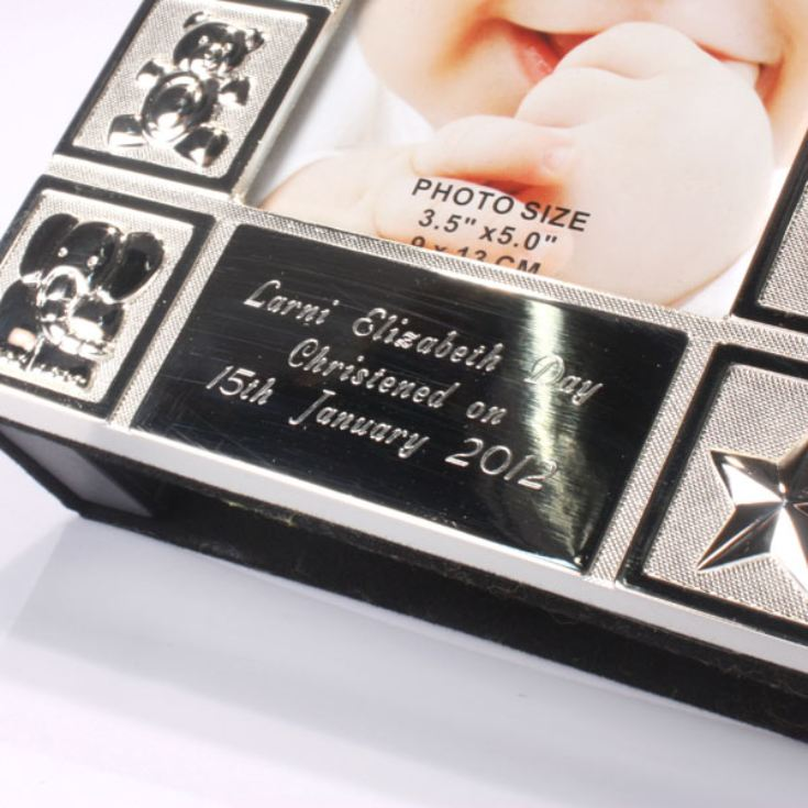 Personalised Silver Plated Baby Album The Gift Experience