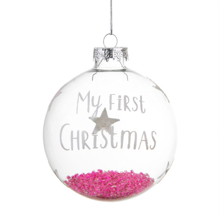 Baby Girls Personalised First Christmas Bauble product image