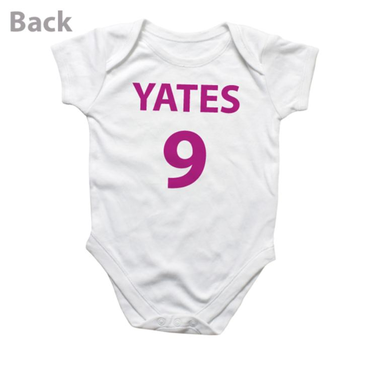 Personalised Football Baby Grow product image