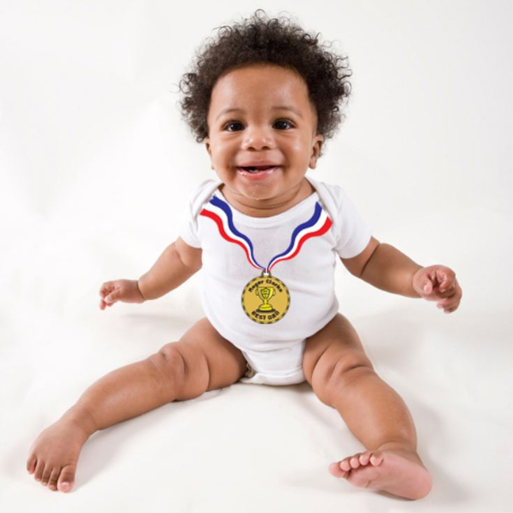 Personalised Medal Baby Grow product image