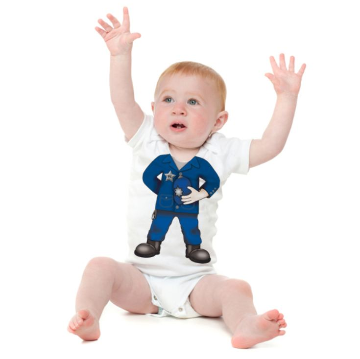 Personalised Police Officer Baby Grow product image