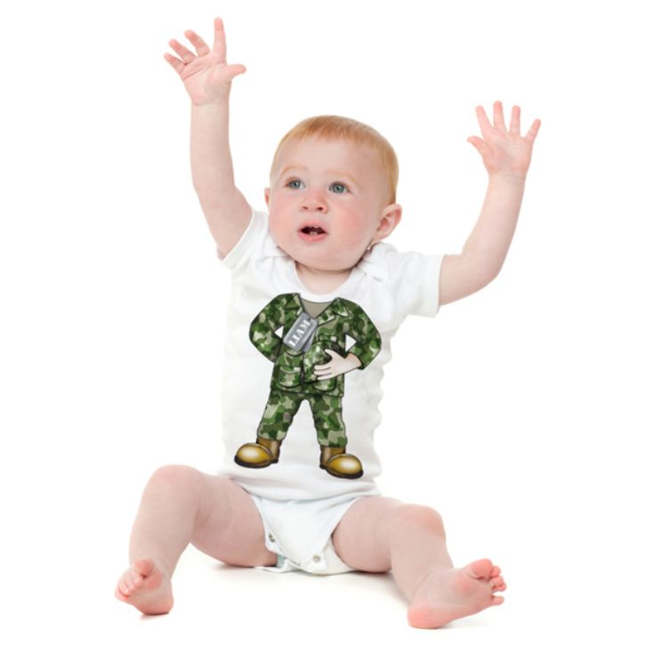 Personalised Army Baby Grow product image