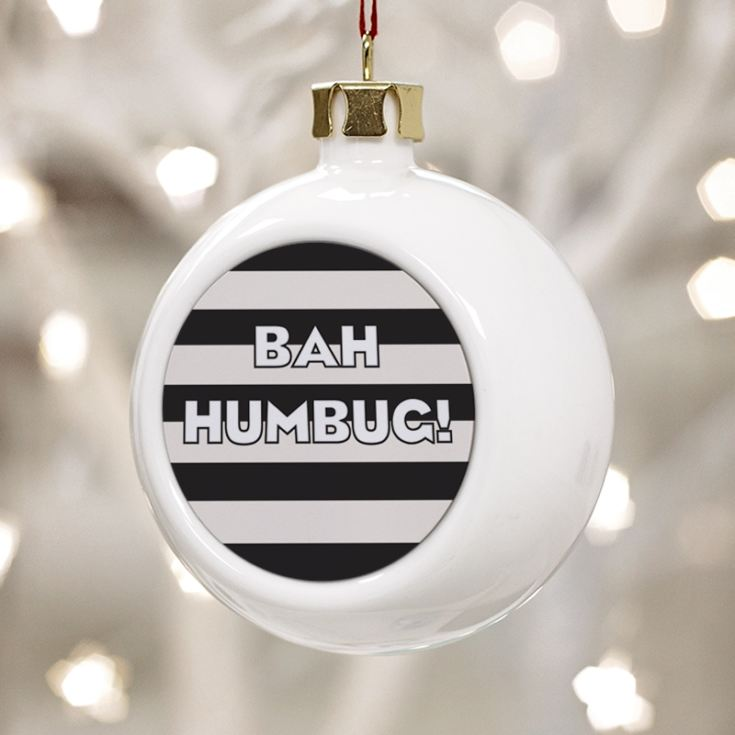 Personalised Bah Humbug Christmas Bauble product image