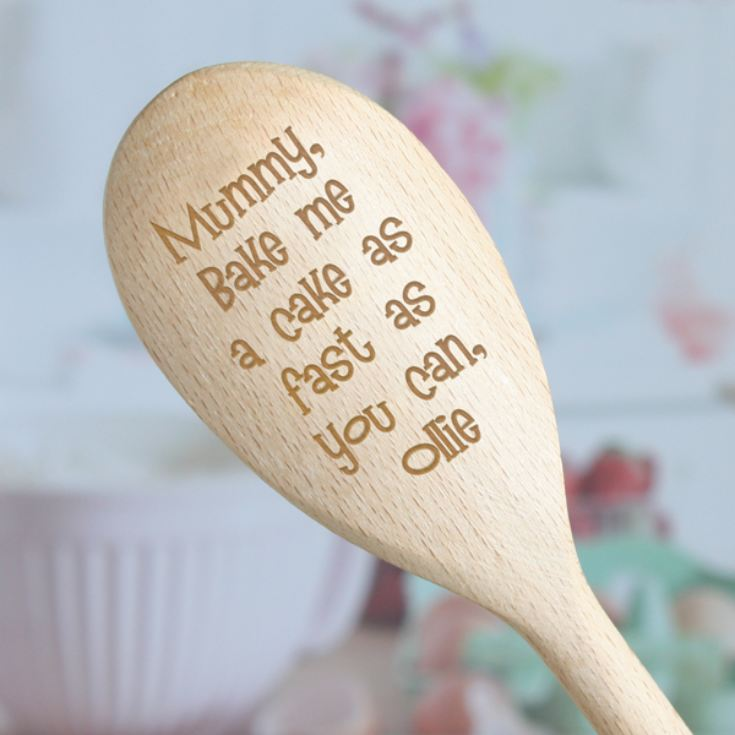 Bake Me A Cake Personalised Wooden Spoon product image