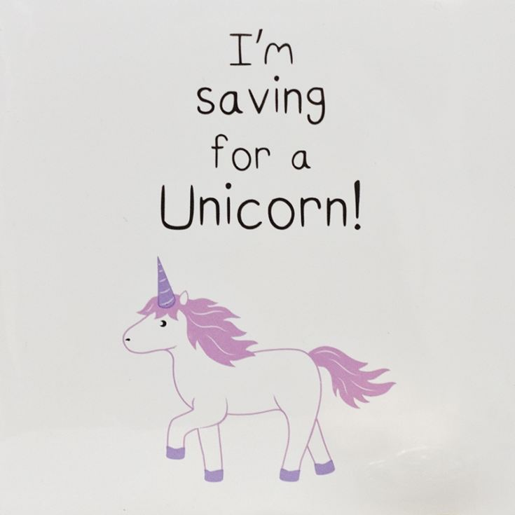 I'm Saving For A Unicorn Ceramic Money Box product image