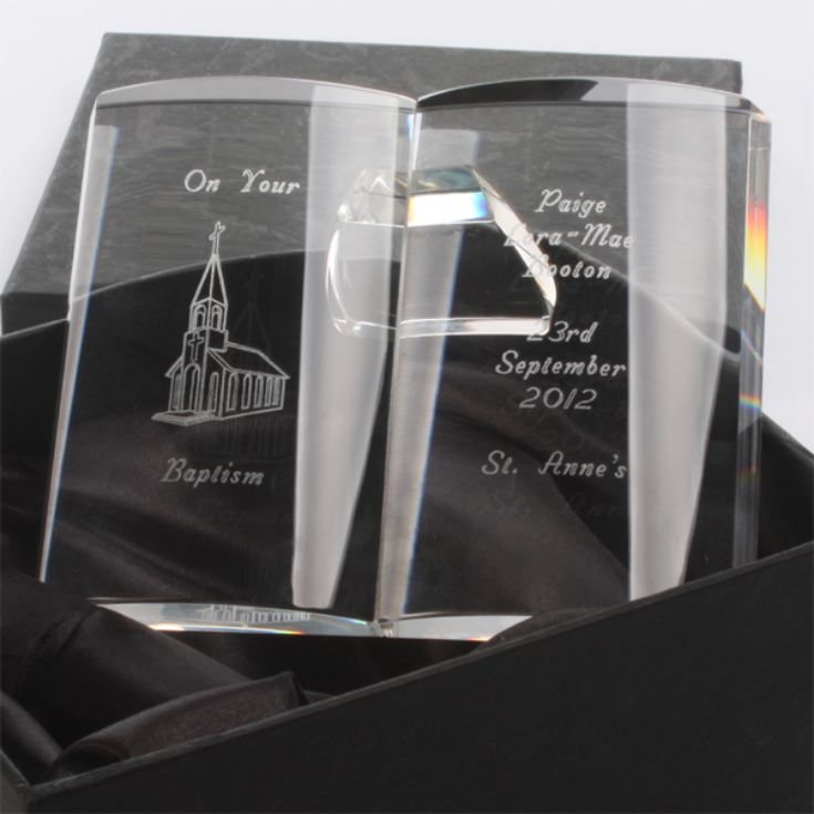 Personalised Crystal Baptism Bible product image