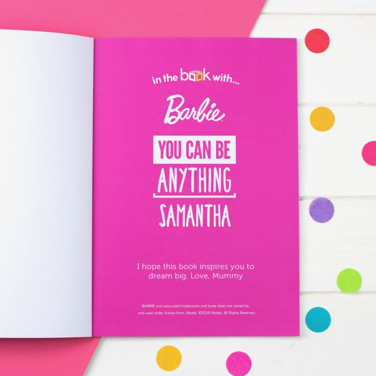 Personalised You Can Be Anything Barbie Book product image