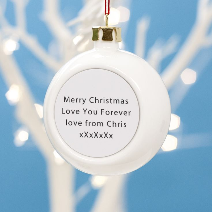 Personalised Barcode Christmas Bauble product image