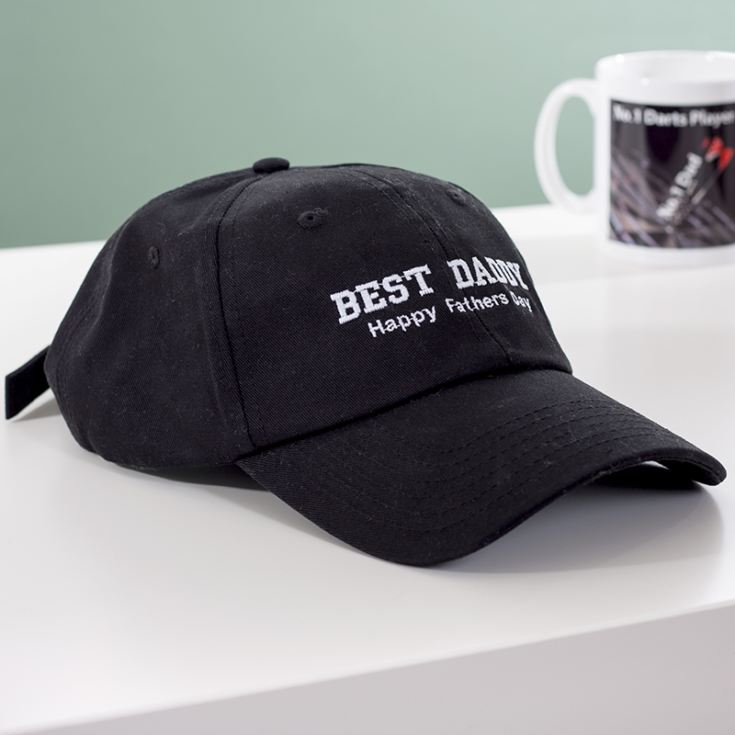 Personalised Embroidered Best Daddy Baseball Cap product image
