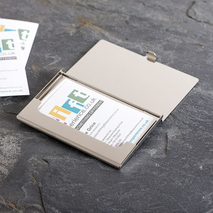 Personalised Silver Plated Business Card Case product image
