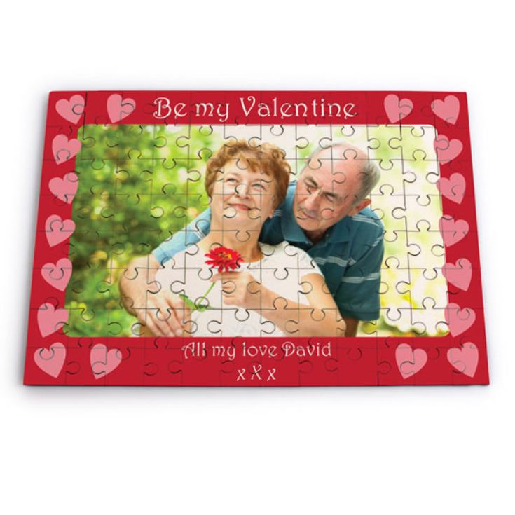 Be My Valentine Personalised Photo Jigsaw product image