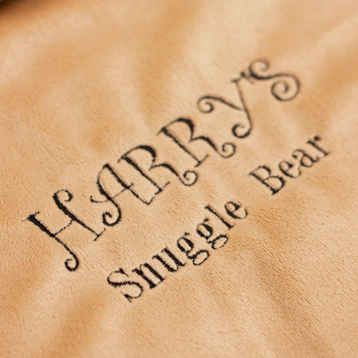 Personalised Embroidered Cubbies Brown Bear Snuggle Blankie product image