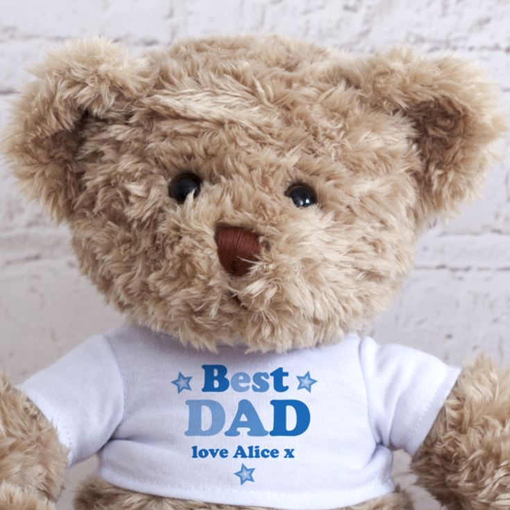 Personalised Best Dad/Daddy Teddy Bear product image