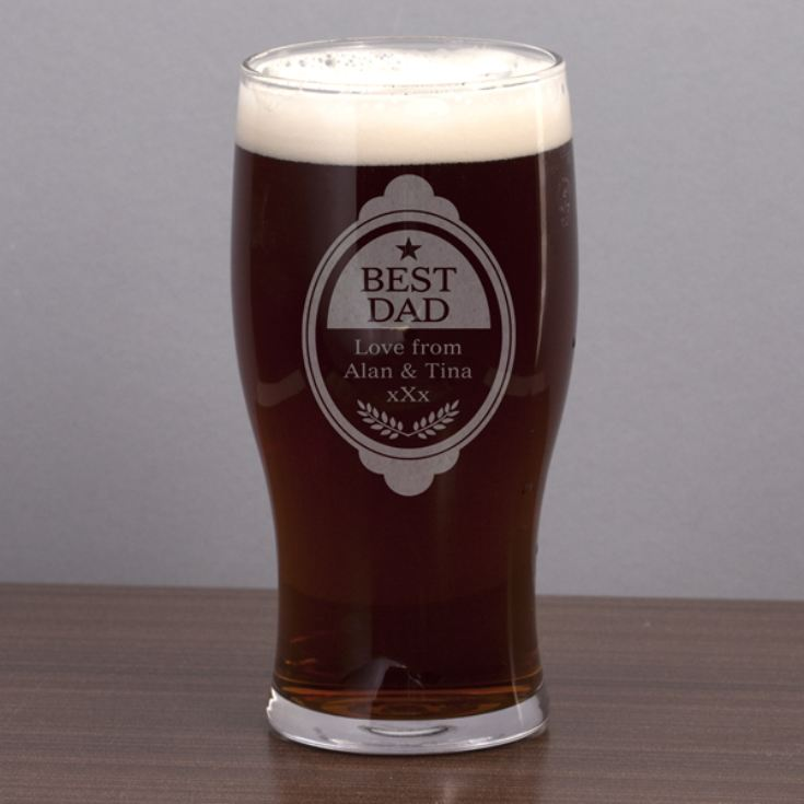 Best Dad Personalised Pint Glass product image