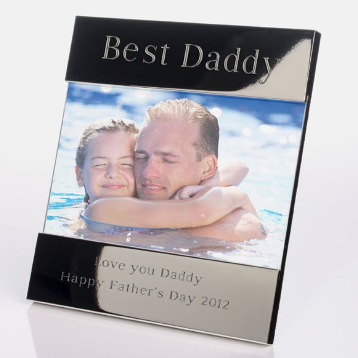 Engraved Best Daddy Photo Frame product image