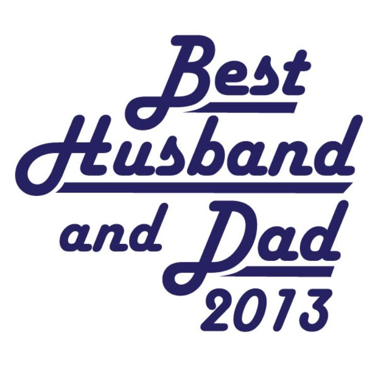 Best Husband and Dad Personalised T-Shirt product image
