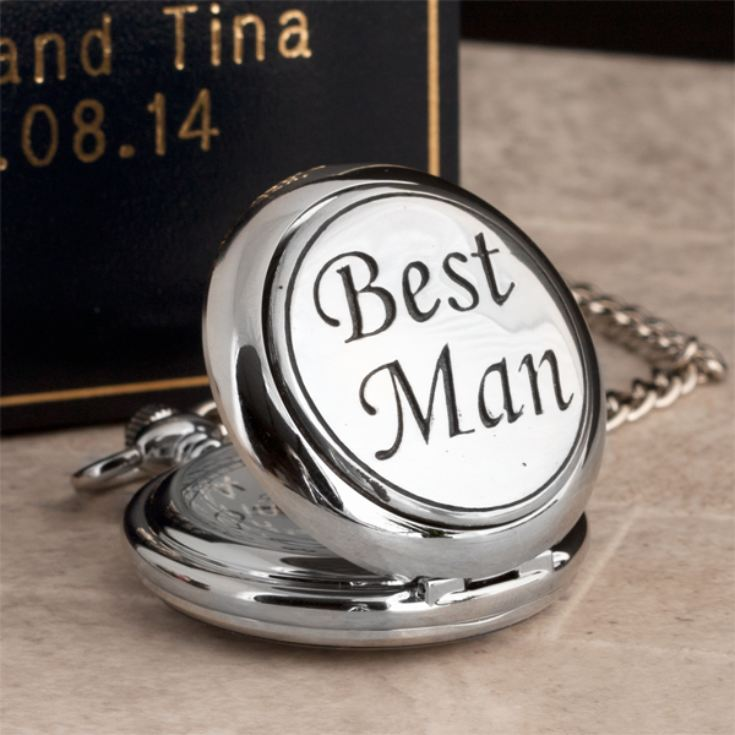 Best Man Pocket Watch With Personalised Gift Box product image