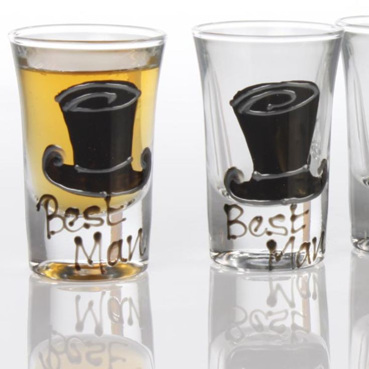 Best Man Shot Glasses product image