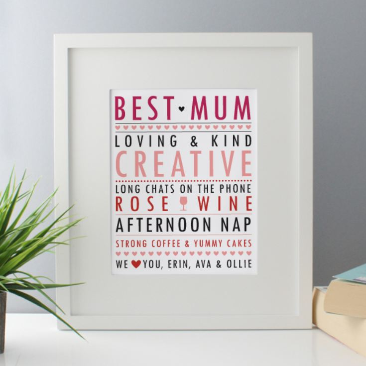 Personalised All About Mum Framed Print product image